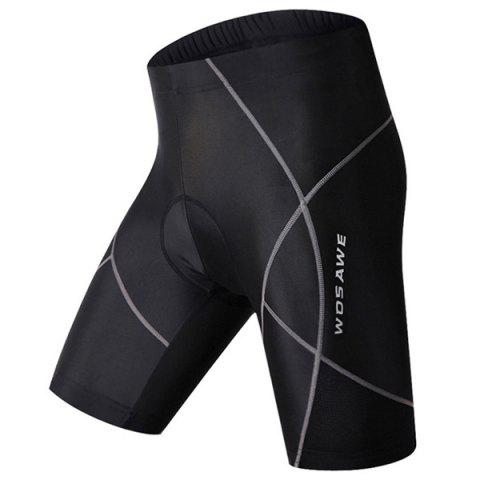 Shop Simple Multifunction Quick Dry Gel Padded Outdoor Cycling Shorts For Unisex - XL BLACK Mobile