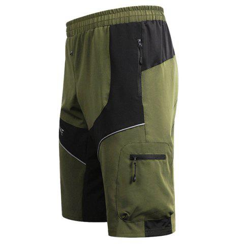 Sale Casual Multifunction Waterproof Outdoor Sports Cycling Shorts For Men - L ARMY GREEN Mobile