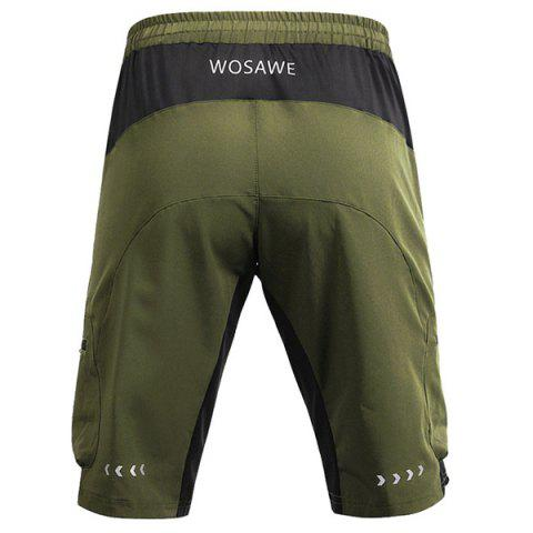 Online Casual Multifunction Waterproof Outdoor Sports Cycling Shorts For Men - L ARMY GREEN Mobile