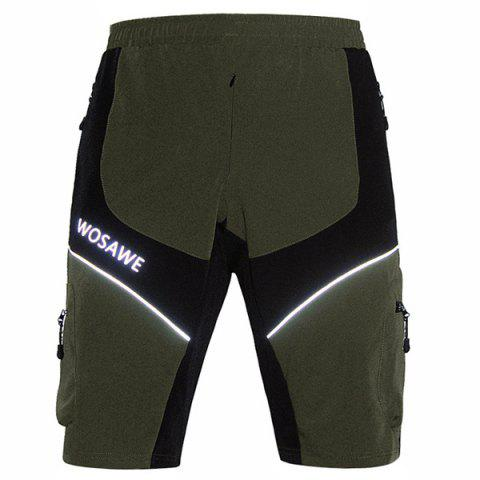 Fancy Casual Multifunction Waterproof Outdoor Sports Cycling Shorts For Men - L ARMY GREEN Mobile