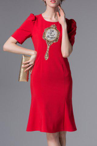 Outfits Embroidered Sequined Sheath Dress