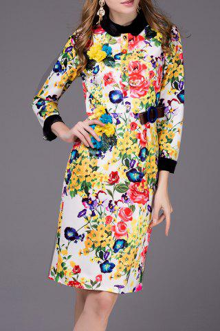 Store Floral Print Bowknot Dress