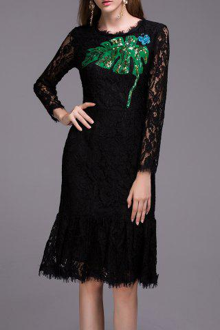 Fancy Sequined Lace Dress