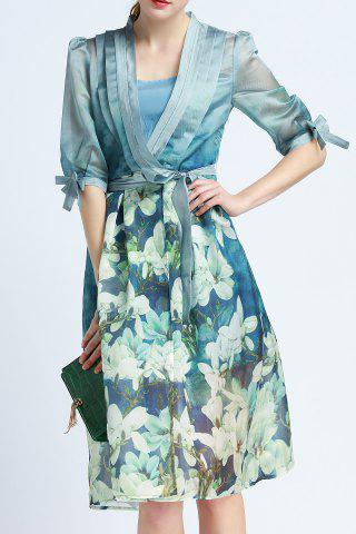 Online Cami Dress and Floral Print Belted Dress Twinset