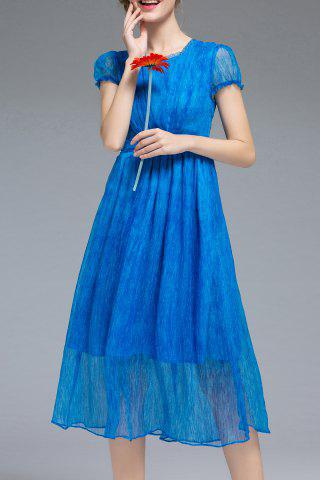 Trendy Solid Color High Waist Dress