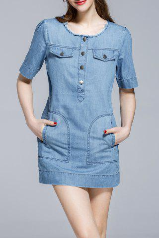 Buy Bodycon Mini Denim Dress