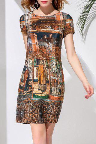 Affordable Short Printed Silk Dress