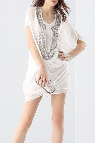 Buy Rhinestone Beading Shift Dress and Cami Tank Top Suit