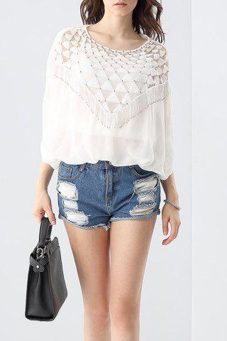 Best Beading Sequined Blouse and Cami Tank Top Suit