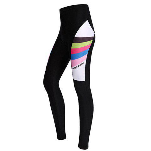 Buy Comfortable Breathable Gel Padded Tight Cycling Pants For Women BLACK M