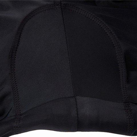 Affordable Comfortable Breathable Gel Padded Tight Cycling Pants For Women - S BLACK Mobile