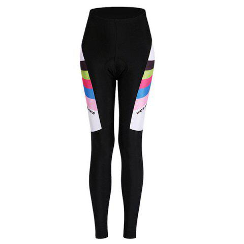 Chic Comfortable Breathable Gel Padded Tight Cycling Pants For Women - S BLACK Mobile
