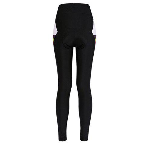 Fancy Comfortable Breathable Gel Padded Tight Cycling Pants For Women - S BLACK Mobile