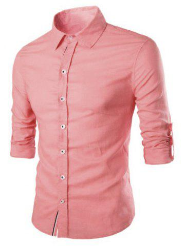 Outfits Casual Solid Color Single Breasted Shirts For Men