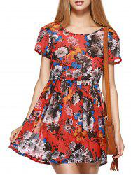 Short Sleeve Floral Race Day Dress