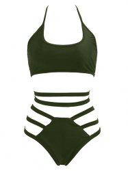 Halter High Waisted Bralette Bikini Set -