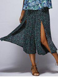 Chic Floral Print High Slit Women's Culotte -
