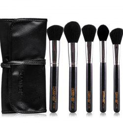 Stylish 5 Pcs Multifunction Nylon Face Makeup Brushes Set with Brush Package -