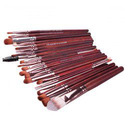 Stylish 20 Pcs Multifunction Nylon Face Eye Lip Makeup Brush Set - DARK RED