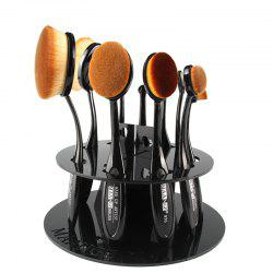 Stylish Round Brushtree Brush Holder Brush Display Stand - BLACK