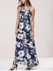 Spaghetti Strap Crossback Floral Print Dress