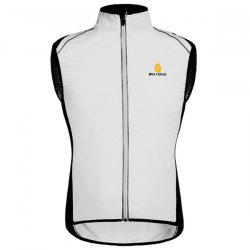 High Quality Breathable Windproof Cycling Waistcoat For Unisex - WHITE
