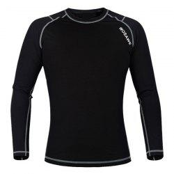 Professional Warmth Thermal Fleece Base Layer Cycling Long Sleeve Jersey For Unisex -
