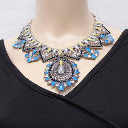 Gorgeous Layered Faux Crystal Water Drop Necklace For Women