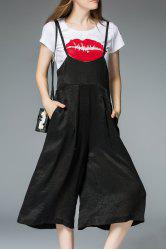 Cami Palazzo Overalls and Tee Suit -