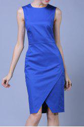 OL Style Pure Color Bodycon Dress -