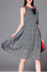 Sleeveless A Line Swing Dress -