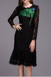 Sequined Lace Dress -