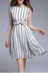 Sleeveless Striped Dress -