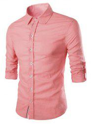 Casual Solid Color Single Breasted Shirts For Men -