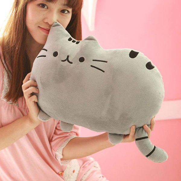 Stylish Short Floss Cushion Cat Shape Design PillowHOME<br><br>Color: DEEP GRAY; Type: Decorative Pillows; Materials: Polyester / Cotton; Shape: Cartoon; Size(CM): 40*30CM; Package Size ( L x W x H ): 40.00 x 30.00 x 18.00 cm / 15.75 x 11.81 x 7.09 inches; Weight: 4.320kg; Package Contents: 1 x Pillow;