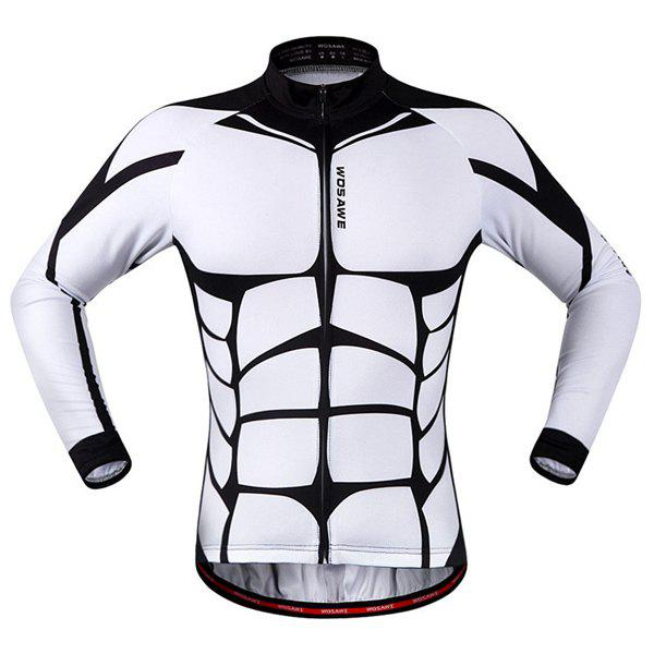Fancy Fashion Muscle Pattern Breathable Quick Dry Cycling Long Sleeve Jersey For Unisex