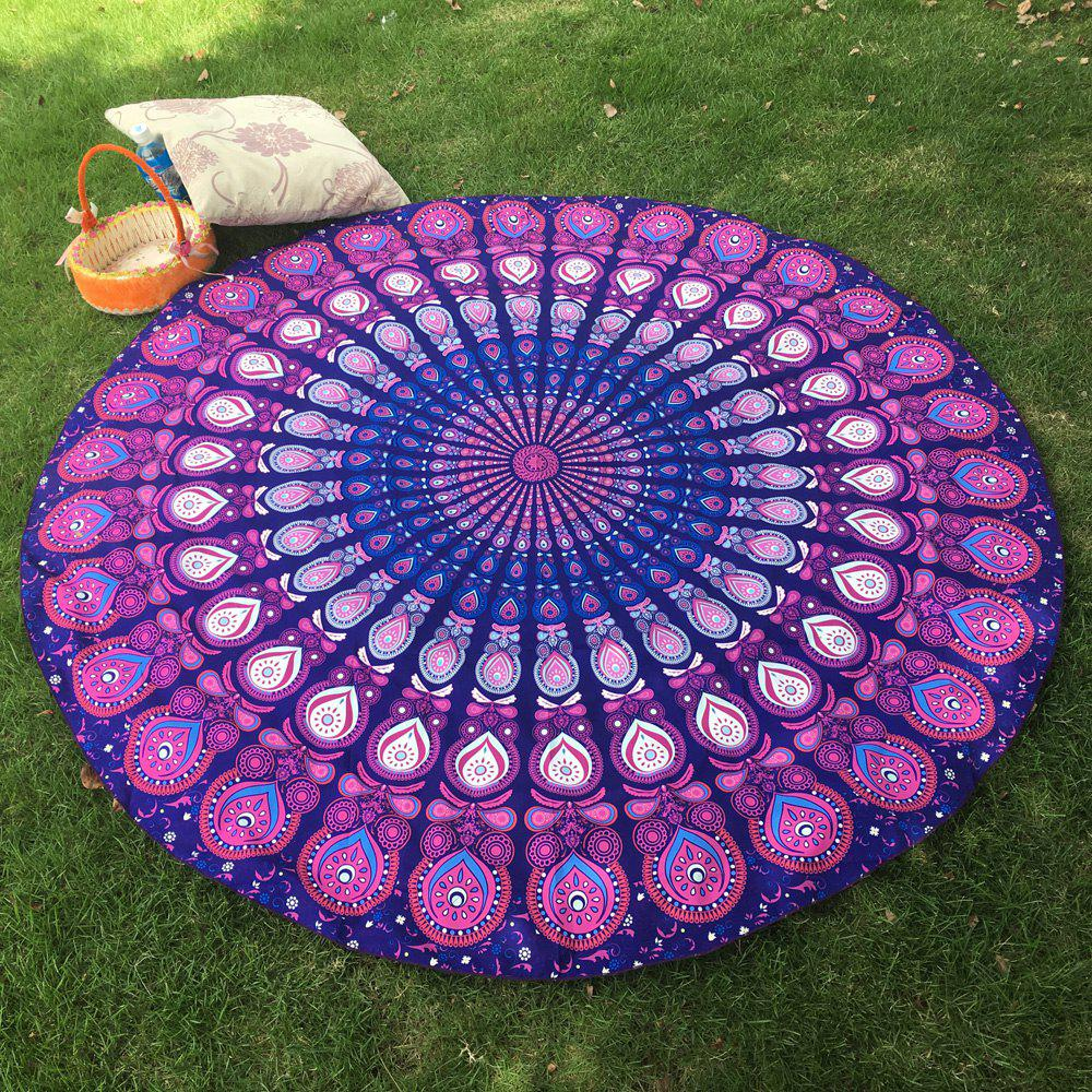 Bikini Boho Swimwear Arab Print Silky Comfortable Round Beach Throw ScarfWOMEN<br><br>Color: PURPLE; Scarf Type: Shawl/Wrap; Group: Adult; Gender: For Women; Style: Fashion; Material: Polyester; Season: Summer; Scarf Length: 150CM; Scarf Width (CM): 150CM; Weight: 0.173kg; Package Contents: 1 x Scarf;