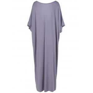 Bowknot Butterfly Sleeve Tee Maxi Dress