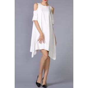 Cold Shoulder Asymmetric Hem Dress