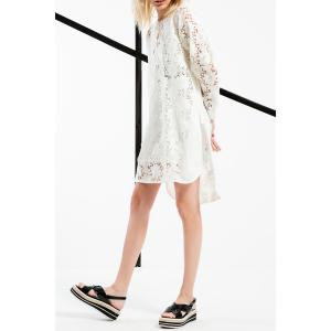 Lace-Up Hollow Out Dress -