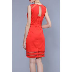 Sleeveless Back Hollow Out Dress -