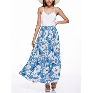 Open Back Floral Maxi Spaghetti Strap Dress
