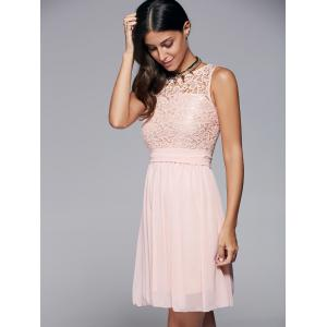 Round Collar Sleeveless Homecoming Dress -