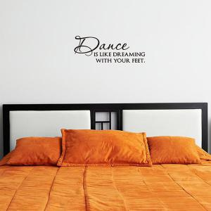 Simple Style Dance Room Decoration Quotes Letters Design Wall Art Sticker