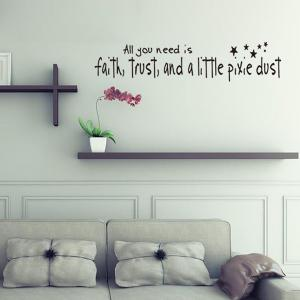 DIY Proverbs Stars Quote Wall Stickers For Bedrooms