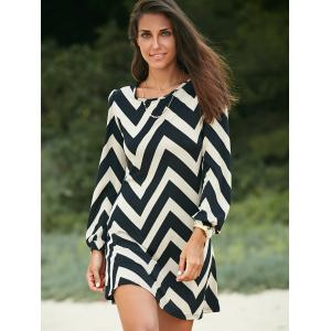 Zigzag Printed Dress For Women