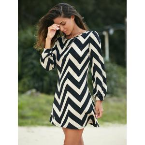Zigzag Printed Dress For Women -
