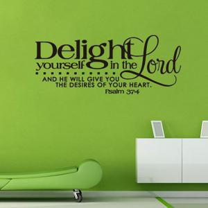 Bible Verse Quote Wall Stickers For Bedrooms - BLACK