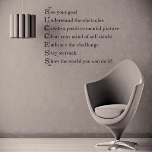 Personality Home Decoration Encouraging Proverbs Design Wall Art Sticker -