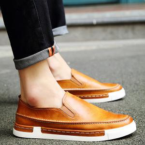 Concise Stitching and PU Leather Design Loafers For Men -